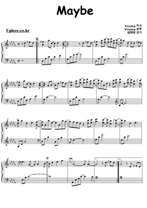Yiruma Maybe Piano Sheet Music