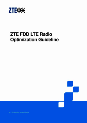 ZTE FDD LTE Radio Network Optimization Guideline V14 (1)