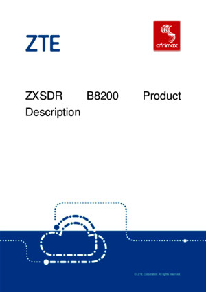 ZTE ZXSDR B8200 Product Description