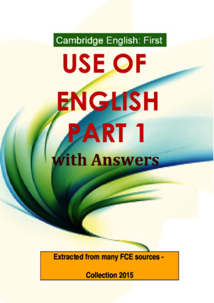 Cambridge English First Use of English Part 1 With Answers