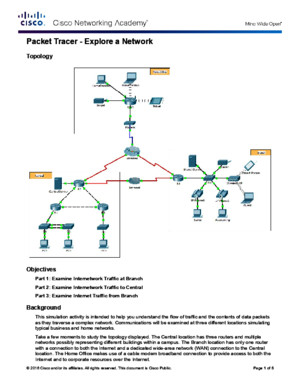 10312 Packet Tracer - Explore a Network