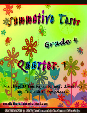 Complete Set of Summative Test (All Subjects) for Grade 4