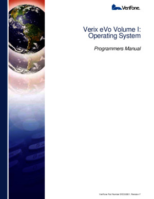 DOC00301 Verix EVo Volume I Operating System Programmers Manual