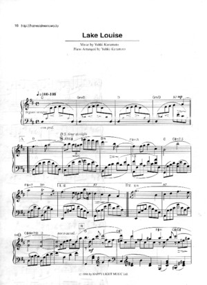 144313301 Yuhki Kuramoto Lake Louise Sheet Music