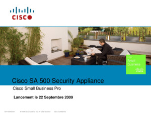 © 2009 Cisco Systems, Inc All rights reservedCisco ConfidentialC97-534717-00 1 Cisco ESW 500 Series Switches Cisco Small Business Pro