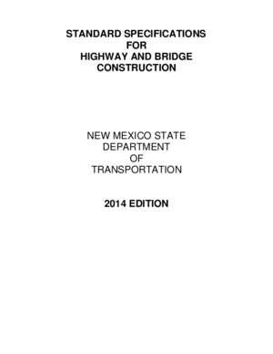 2014 Specs for Highway and Bridge Construction