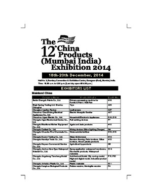 Exhibitor List 2014 CC