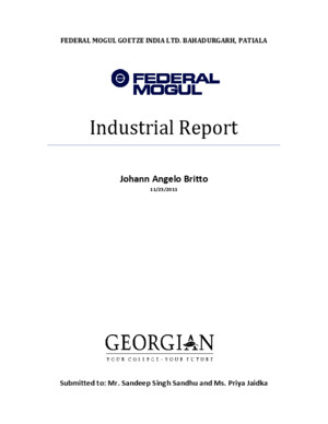 Federal Mogul Industrial Tour Report