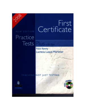 38555496 First Certificate Practice Tests Plus 2008 Edition Longman