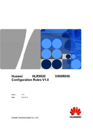 Huawei HLR 9820 Configuration PDF