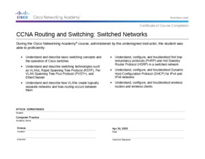 3CCNA Routing and Switching - Scaling Networks