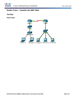 5328 Packet Tracer - Examine the ARP Table