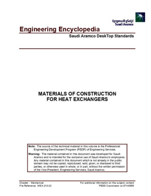 Materials of Construction for Heat Exchangers