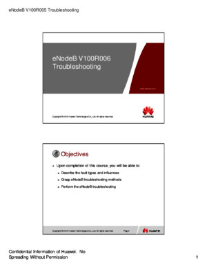 Microsoft PowerPoint - 01 OEB404600 eNodeB V100R006 Troubleshooting ISSUE 1