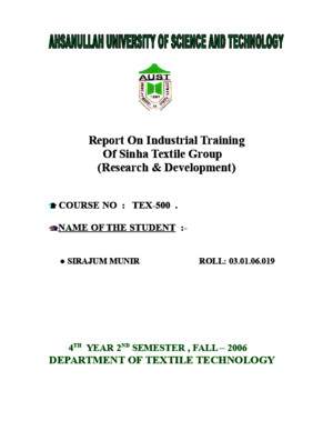 Report of industrial training