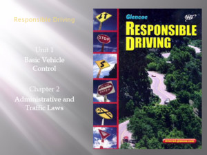 Responsible Driving Unit 1 Basic Vehicle Control Chapter 2 Administrative and Traffic Laws