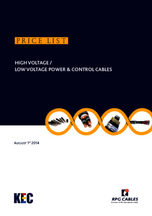 Rpg Cables Price List Aug 2014