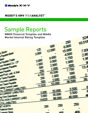Sample Reports_MMAS Financial Template and Middle Market Internal Rating Template