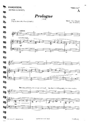 Sister Act the Musical Piano/Vocal Score