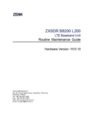 SJ-20140807141023-005-ZXSDR B8200 L200 (HV310) Routine Maintenance Guidepdf