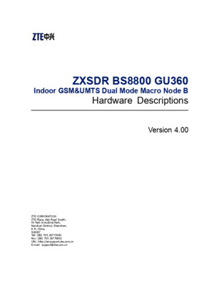 Sjzl20085156-ZXSDR BS8800 GU360 (V4[1]00) Hardware Descriptions
