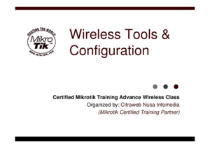 02-MTCWE-Basic Configuration & Tools