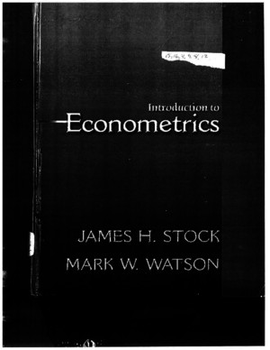 Stock & Watson Introduction to Econometricspdf