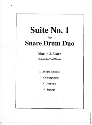 Suite No1 for Snare Drum Duo