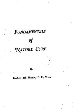 The Fundamentals of Nature Cure by Herbert Shelton
