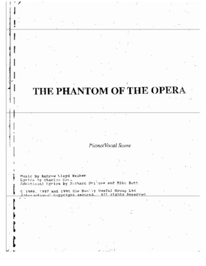 The Phantom of the Opera PC Score