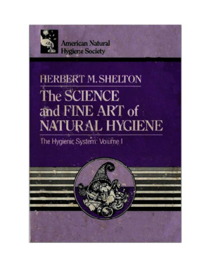 The Science and Fine Art of Natural Hygiene - Herbert M Shelton