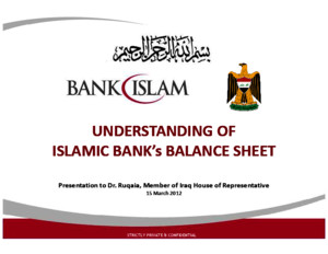 Understanding of Islamic Bank Balance Sheet